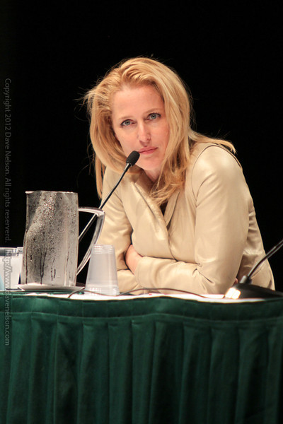 Gillian Anderson sharing her experiences with the X-Files