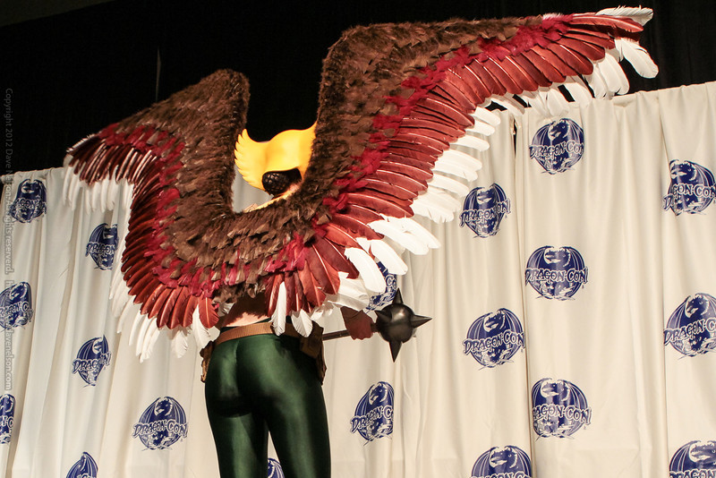 Hawk Girl at the From the Page to the Stage: Comic Book Pageant