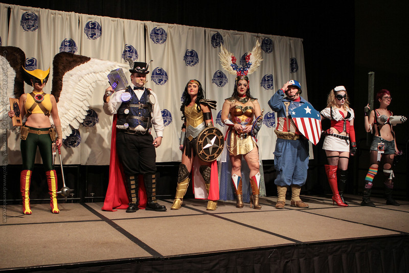 Winners at the From the Page to the Stage: Comic Book Pageant