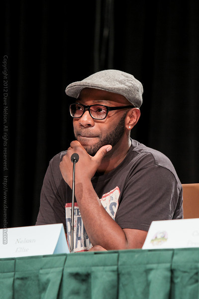 Nelsan Ellis at a True Blood panel