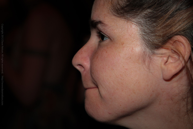Bobbie watching a band