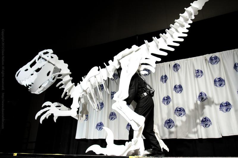 Dinosaur Costumes at the Masquerade Costume Contest