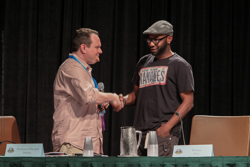 Nelsan Ellis at a True Blood panel