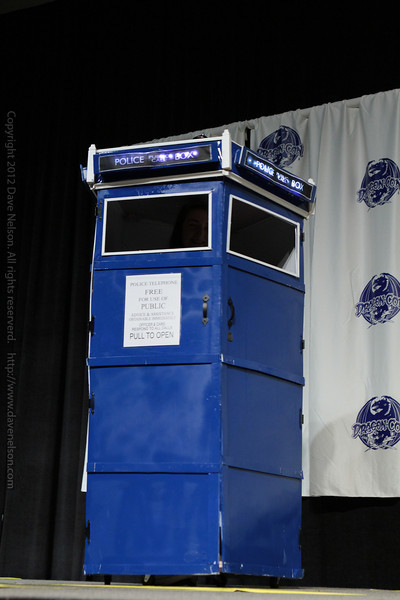 Doctor Who Tardis Costume at the Masquerade Costume Contest