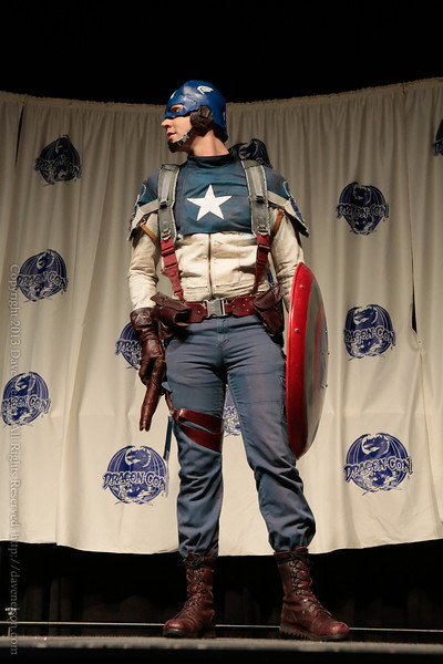 Captain America Costume at From the Page to the Stage: Comic Book Pageant at DragonCon 2013