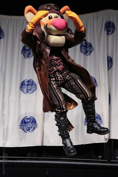 Steampunk Tigger Costume in the Masquerade at DragonCon 2013