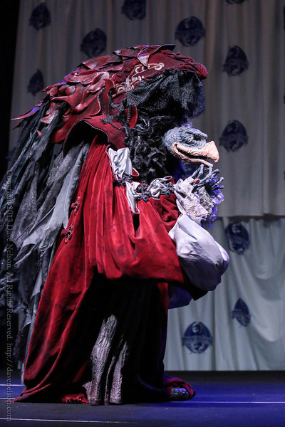 Dark Crystal Skeksis Costume at the Friday Night Costume Contest at DragonCon 2013