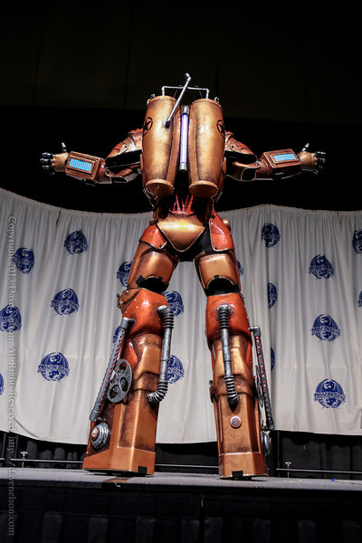 Large Robot Costume in the Masquerade at DragonCon 2013