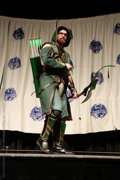 Green Arrow Costume at From the Page to the Stage: Comic Book Pageant at DragonCon 2013