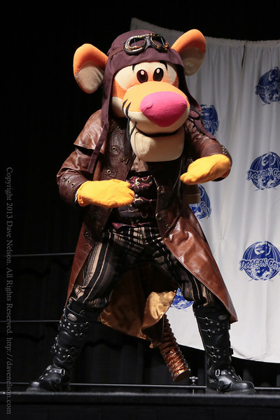 Steampunk Tigger Costume in the Masquerade at DragonCon 2013