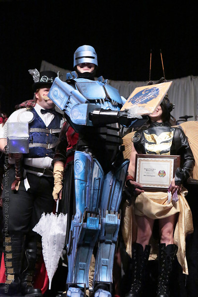 Papercraft RoboCop Winning Costumes in the Masquerade at DragonCon 2013
