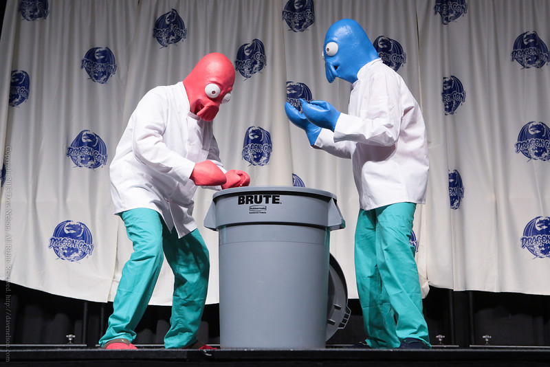 Futurama Costume in the Masquerade at DragonCon 2013