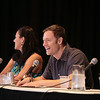 Miracle Laurie, Tahmoh Penikett, and Eliza Dushku of Dollhouse at DragonCon 2013