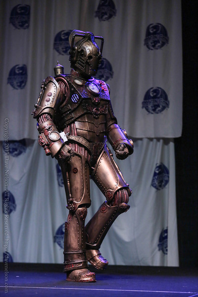 Doctor Who Steampun Cyberman Costume at the Friday Night Costume Contest at DragonCon 2013
