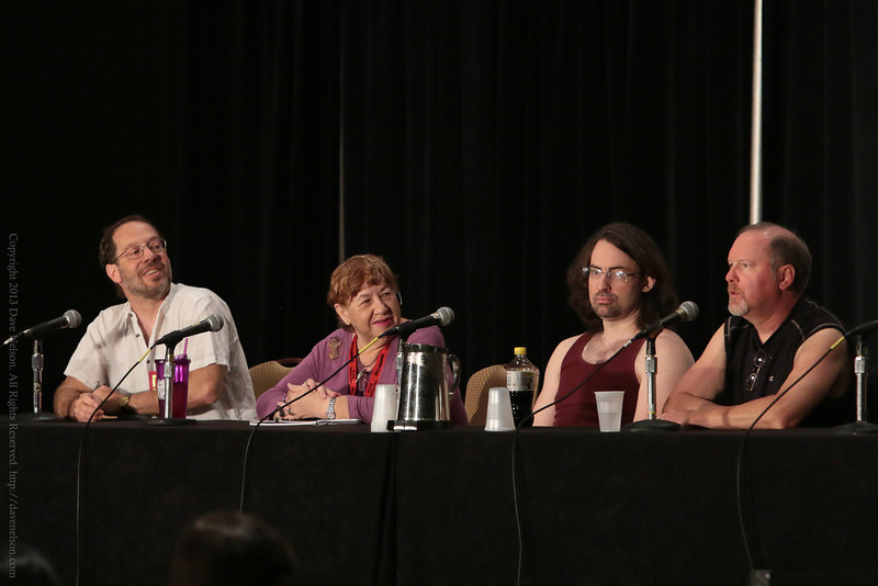 D.B. Jackson, Jim Butcher, and Kevin J. Anderson at DragonCon 2013