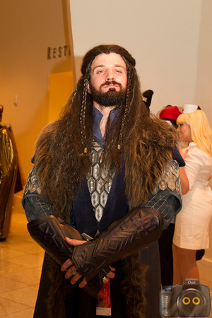 Dwarven warrior Cosplayer at DragonCon 2015