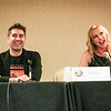 Tori Belleci and Kari Byron in the Confirmed: An Hour with Tory and Kari panel at DragonCon 2016