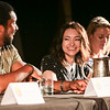 Melissa O'Neil, Anthony Lemke, Roger Cross, Jodelle Ferland, and Zoe Palmer in the Dark Matter - Amnesia, the cure for the anti-social panel at DragonCon 2016