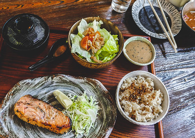 Robata Grilled Miso Salmon Lunch Set