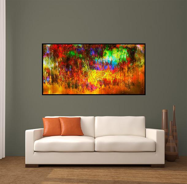 "Harmony 60""x30"" Black Aluminum Artbox Frame with Matte Acrylic Glass"