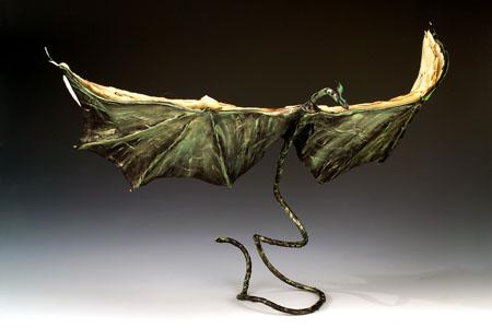 Dragon book in greens