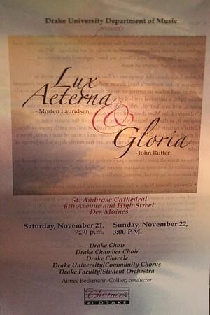 Drake University 2015-16 Choral Events