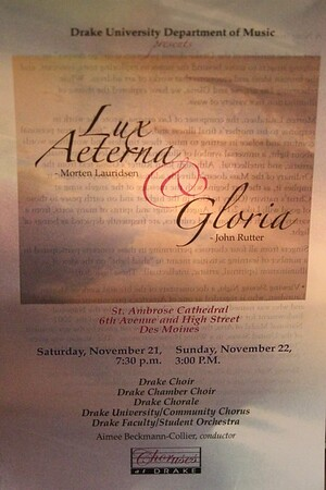 Drake University 2015-16 Choral Events