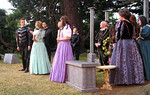 The cast during a performance in Airfield Gardens