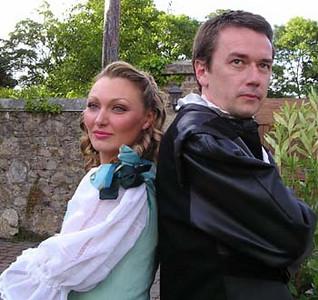 Antoinette Fahey (Beatrice) and Sean Murphy (Benedick of Padua)