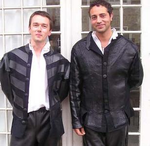 Sean Murphy (left) as Benedick of Padua and Basil Ashmawy as Don Pedro, Prince of Aragon