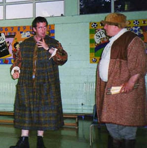 Geoffrey O'Keeffe as Dogberry and Paul Sharpe as Verges