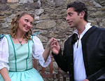 Antoinette Fahey (Beatrice) and Basil Ashmawy (Don Pedro)
