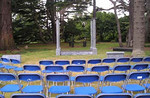 A view from the audience area of Airfield Gardens