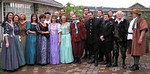 The cast of 'Much Ado About Nothing' at Airfield House