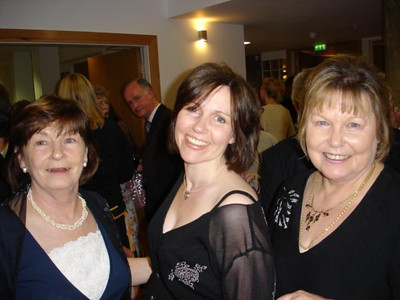 Jean, Claire, Karen at the Gala Reception on Opening Night