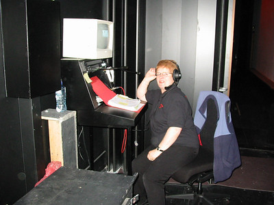 Lynn Pennefather at the Stage Manager's desk