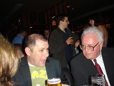 Kevin Fahey and John Carleton at the Gala Reception on Opening Night