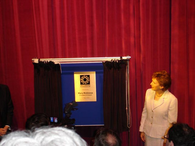 President Mary McAleese - Opening of Mill Theatre Dundrum May 2006