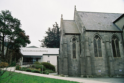 Taney Church with rehearsal rooms in Parish Centre behind