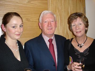 Deirdre Ward (left), Tony McGettigan (centre) at the Gala Reception on Opening Night