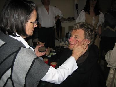 Teresa Dempsey (make up) & Francis Cahill (Rev.Oliver Martext, a country vicar)