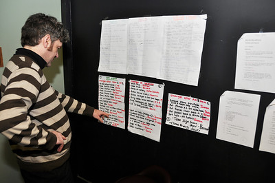 Fergal Cleary checking the backstage checklists