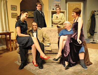 The Cast: (l to r) Orla Hegan, Kevin Fahey, Sean Murphy, Claire Reilly, Brian Molloy and Claire O'Donovan