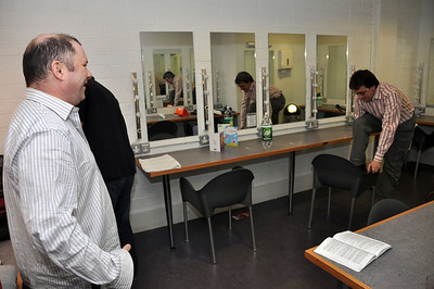 Kevin Fahey and Sean Murphy before one of the performances.