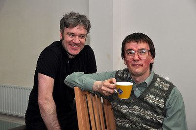 Fergal Cleary and Sean Murphy, partially made up for his role as William Featherstone