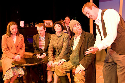 Fiona Walshe, Kevin O'Flynn, Mary Ryan, Declan Brennan and Len Nealon with Joe McCarthy (behind)