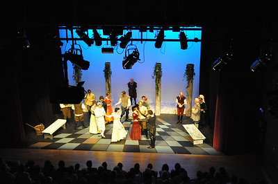 Rome and Juliet on stage at the Mill Theatre as viewed from the Control Room (16 June 2010)