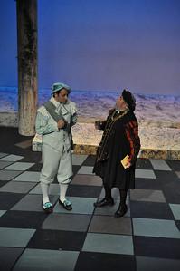 Sean Ahern as Paris with Brendan Dunne as Capulet