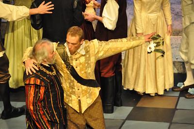 Capulet (Brendan Dunne) and Tybalt (Mark Phelan)