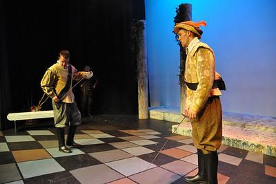 Sean Murphy as Benvolio and Mark Phelan as Tybalt.